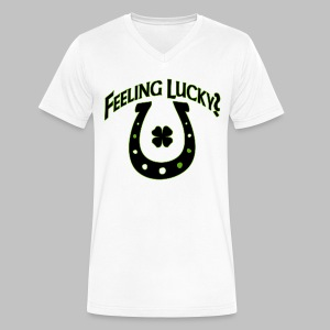 Feeling Lucky - Men's V-Neck T-Shirt by Canvas