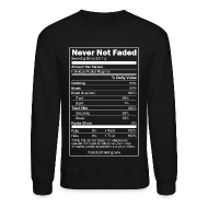 Long Sleeve Shirts ~ Men's Crewneck Sweatshirt ~ Faded Nutrition