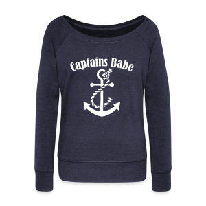 captains babe scoop  - Women's Wideneck Sweatshirt