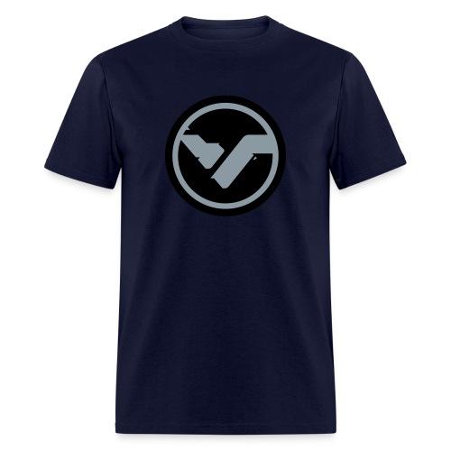 Navy FYTE Tee - Grey Logo - Men's T-Shirt