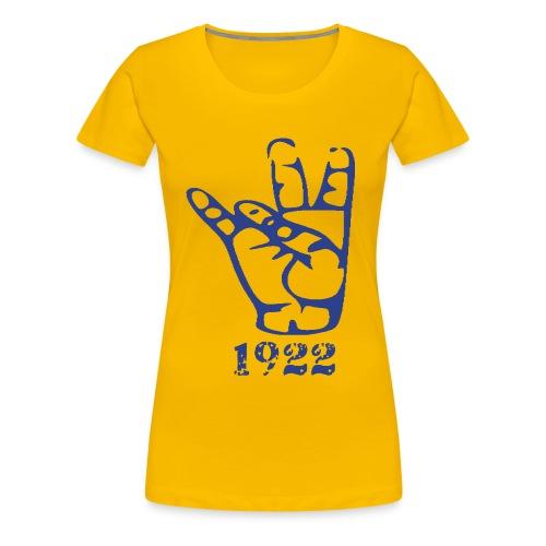 Women's Premium T-Shirt - stomp,stepshow,stepcorrectny,stepcorrect,paraphernalia,para,college,apparel,Sorority,Sigma Gamma Rho,Greek