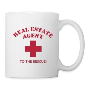 RE Agent to the Rescue Left Mug Wht - Coffee/Tea Mug