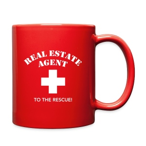 RE Agent to the Rescue Left Mug Blk - Full Color Mug