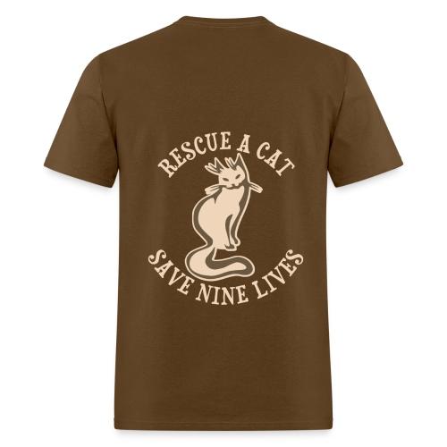 Rescue a cat save nine lives..... - Men's T-Shirt
