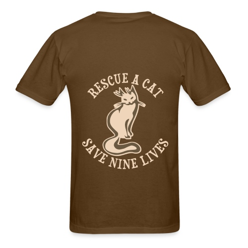 Rescue a cat save nine lives..... - Men's T-Shirt