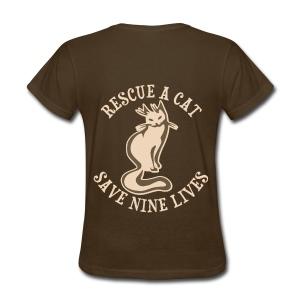 Rescue a cat save nine lives..... - Women's T-Shirt