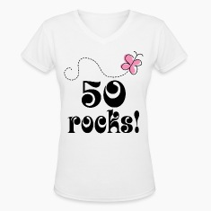 50th Birthday 50 Rocks Women's T-Shirts