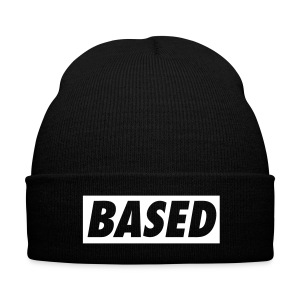 Based Beanine - Knit Cap with Cuff Print