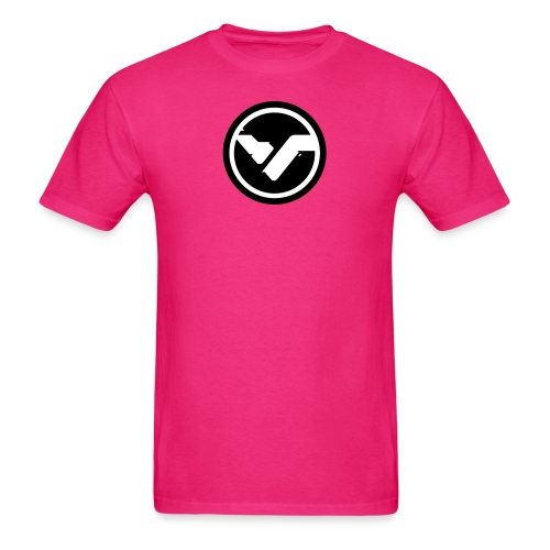 Pink FYTE Tee - Black and White Logo - Men's T-Shirt