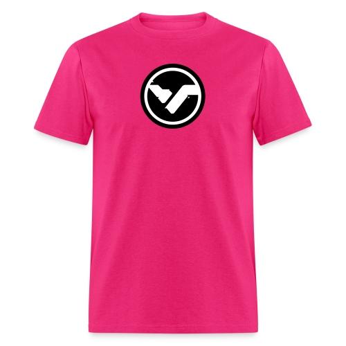 Pink FYTE Tee - Black and White Logo - Men's T-Shirt
