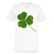 T-Shirts ~ Men's V-Neck T-Shirt by Canvas ~ Cracked Shamrock
