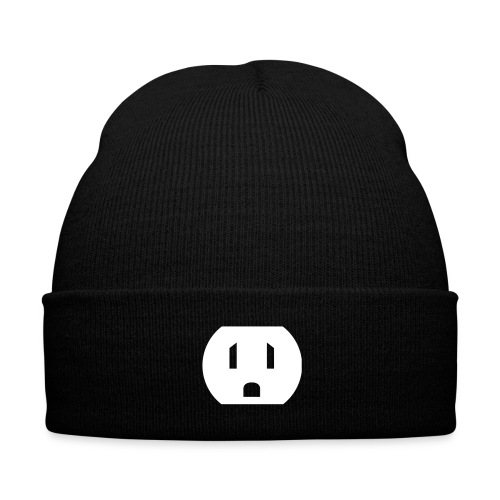 The plug - Knit Cap with Cuff Print