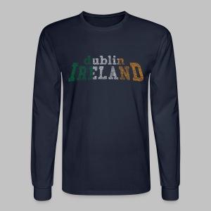 Dublin Ireland Flag - Men's Long Sleeve T-Shirt