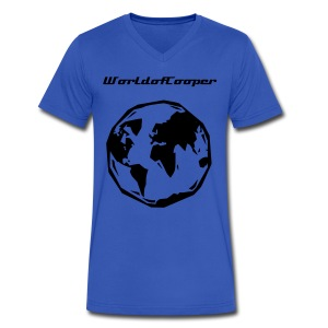 Basic T-Shirt by Cooper Quick - Men's V-Neck T-Shirt by Canvas