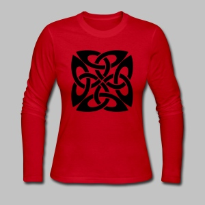 Celtic Knot Ire - Women's Long Sleeve Jersey T-Shirt