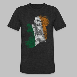 Ireland Flag Distressed - Unisex Tri-Blend T-Shirt by American Apparel
