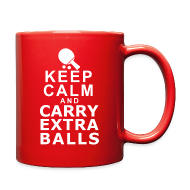 Mugs & Drinkware ~ Full Color Mug ~ Keep Calm and Carry Extra Balls