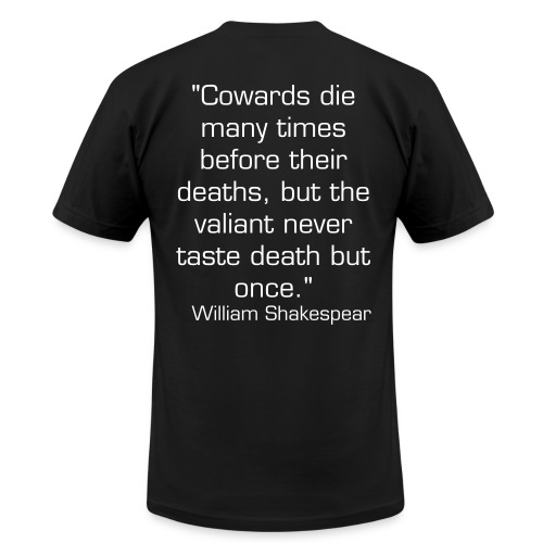 Men's Shakespear, Cowards Die - Men's  Jersey T-Shirt