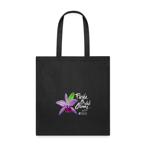 Florida Orchid Growing - Script Font - Tote Bag