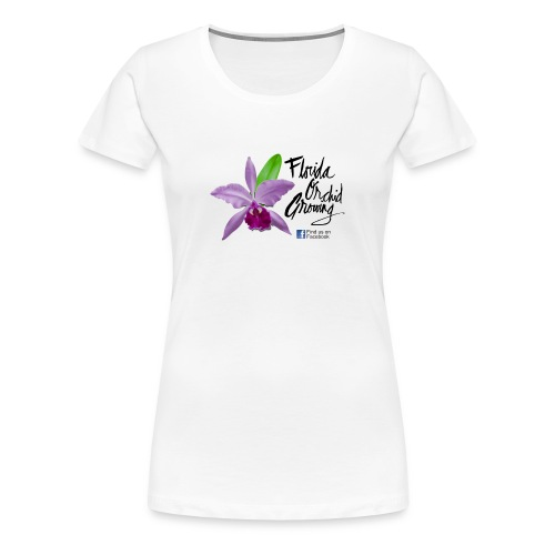 Florida Orchid Growing - Script Font - Women's Premium T-Shirt