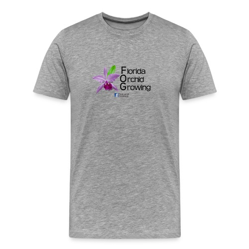 Florida Orchid Growing - New Font - Men's Premium T-Shirt