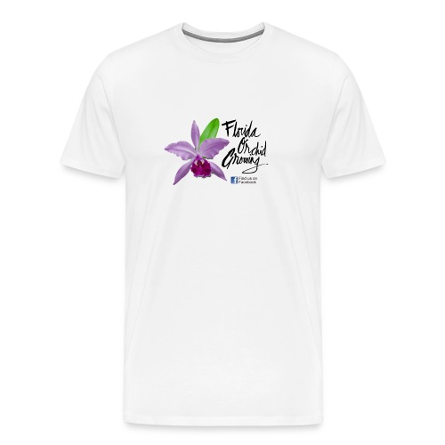 Florida Orchid Growing - Script Font - Men's Premium T-Shirt