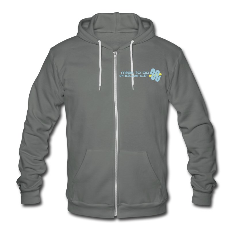 Unisex MTGE Where We Run Zippered Hoodie - Unisex Fleece Zip Hoodie by American Apparel