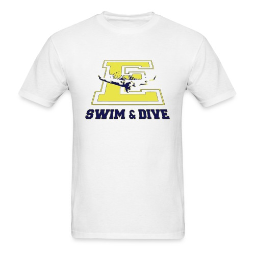 swim and dive E - Men's T-Shirt