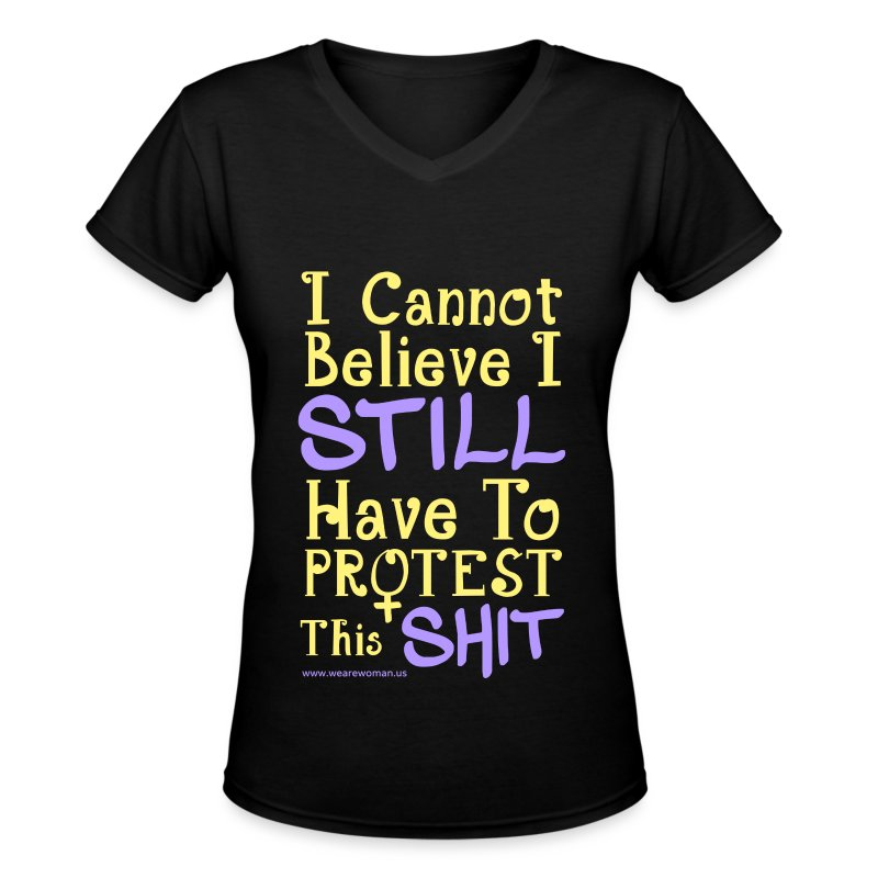 I Can't Believe V-Neck T-Shirt - Women's V-Neck T-Shirt