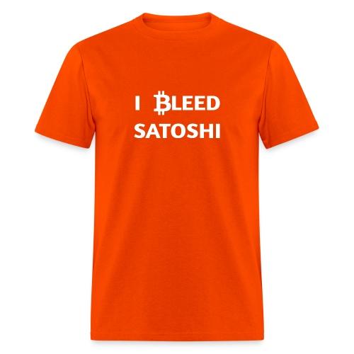 I ฿leed Satoshi - Men's T-Shirt