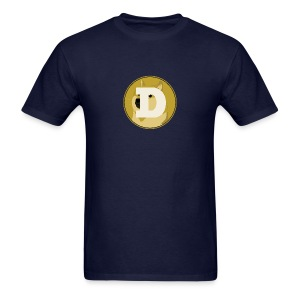 Dogecoin Logo Simple - Men's T-Shirt