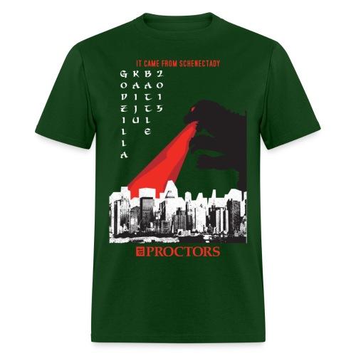 Godzilla Kaiju Battle 2015 (Dark Green) - Men's T-Shirt