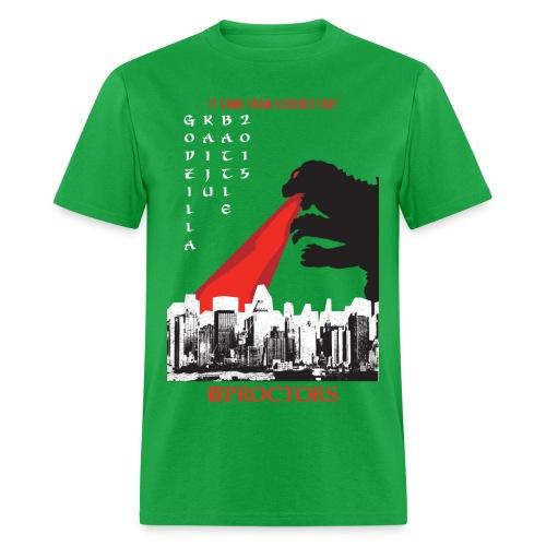 Godzilla Kaiju Battle 2015 (Light Green) - Men's T-Shirt