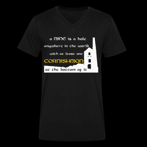 A mine is a hole  - Men's V-Neck T-Shirt by Canvas