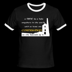 A mine is a hole  - Men's Ringer T-Shirt