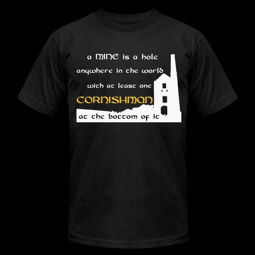 A mine is a hole  - Men's Fine Jersey T-Shirt