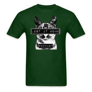 Lost At Home Men's Black & White Tee - Men's T-Shirt