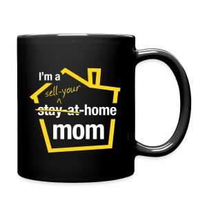 Sell Your Home Mom blk mug left - Full Color Mug