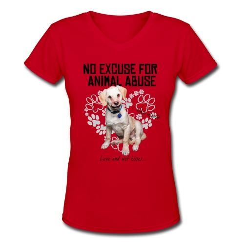 V  NECK - Women's V-Neck T-Shirt
