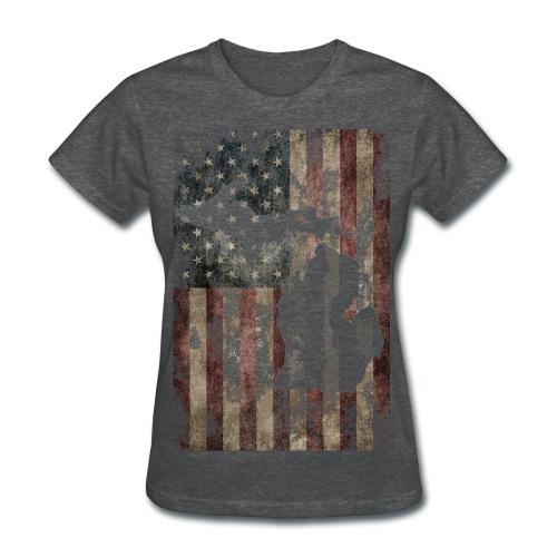 American Flaged T-Shirt - Women's T-Shirt