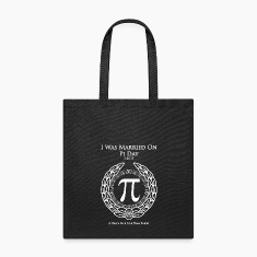 I Was Married On Pi Day Tote Bag