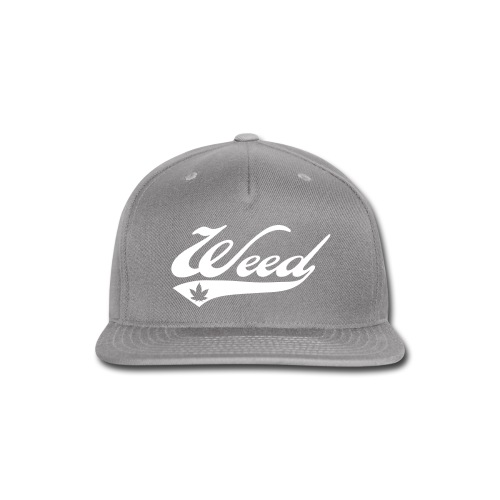 Cool Grey Weed Snapback - Snap-back Baseball Cap