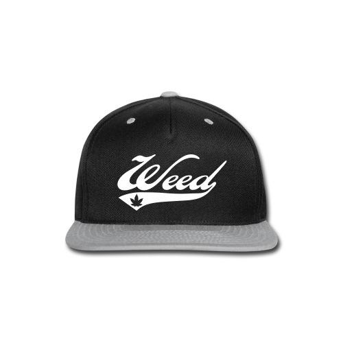Cool Grey Weed Snapback - Snap-back Baseball Cap