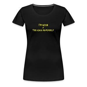 I'm with... Womens Shirt - Yellow - Women's Premium T-Shirt