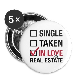 Single Taken In Love 2.25 Pin - Large Buttons
