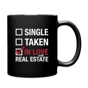 Single Taken In Love Blk Left - Full Color Mug
