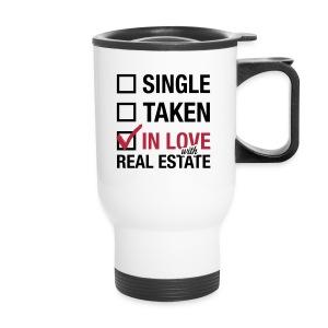Single Taken In Love Travel mug - Travel Mug