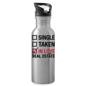 Single Taken In Love Water Bottle - Water Bottle