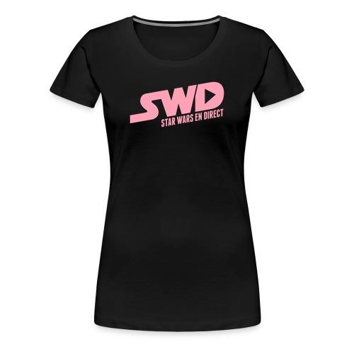 T-Shirt SWD Classique Rose (pour femme) - T-shirt premium pour femmes