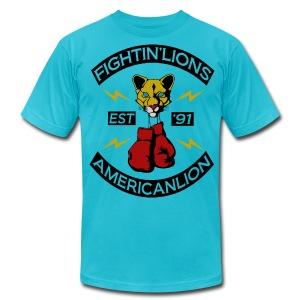M Fightin Lion T - Men's Fine Jersey T-Shirt